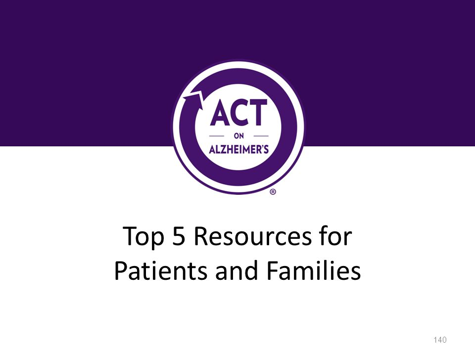 Top 5 Resources for Patients and Families Speaker Notes: