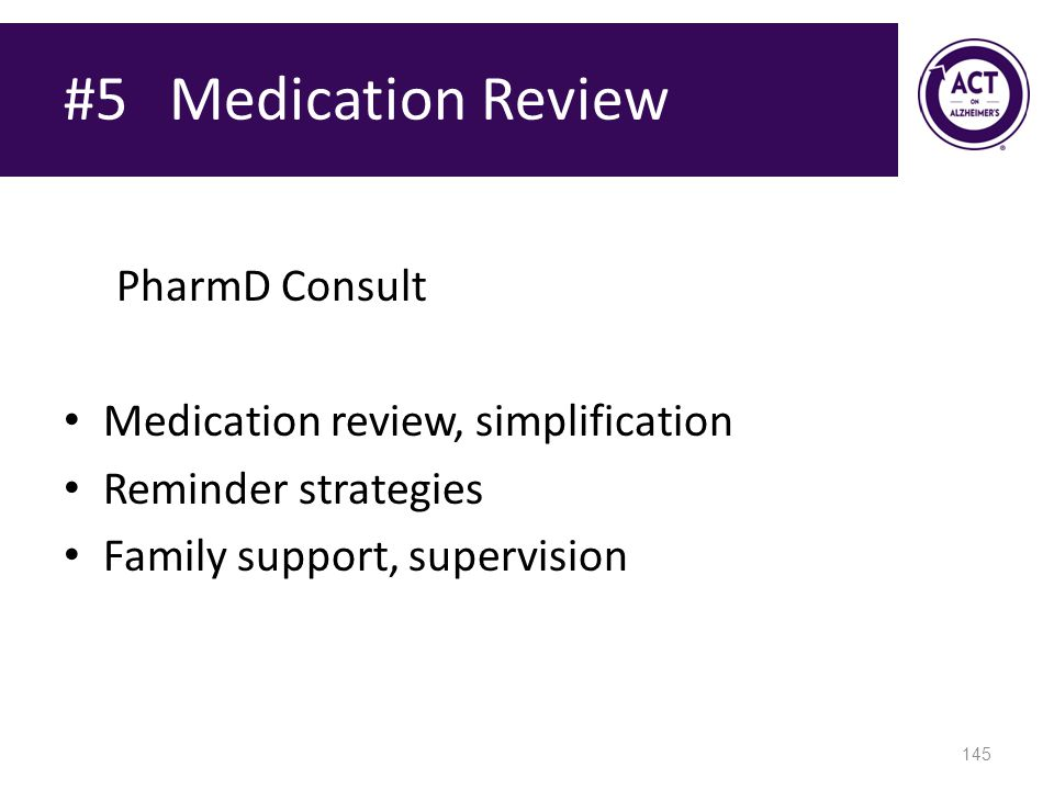 #5 Medication Review PharmD Consult Medication review, simplification