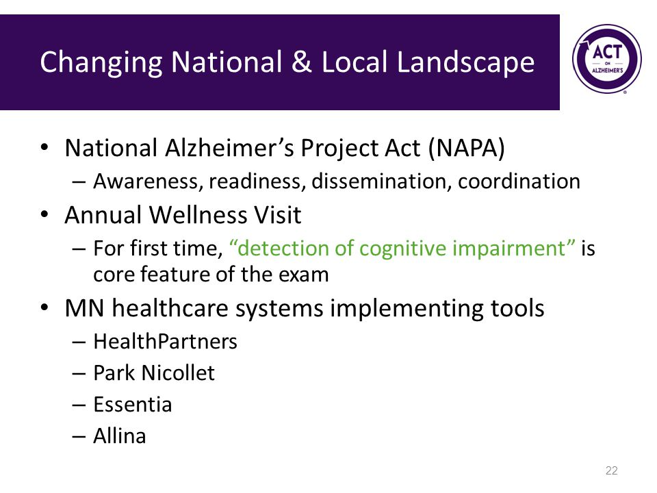 Changing National & Local Landscape