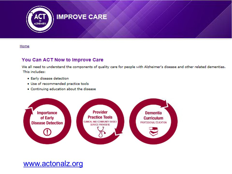 www.actonalz.org Speaker Notes: