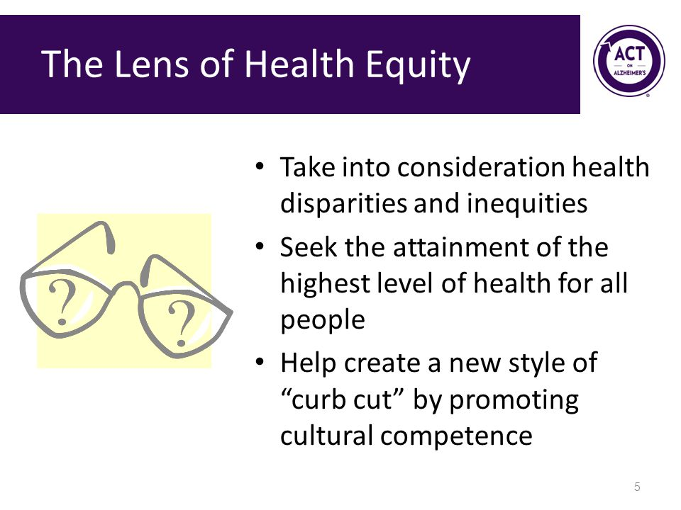 The Lens of Health Equity