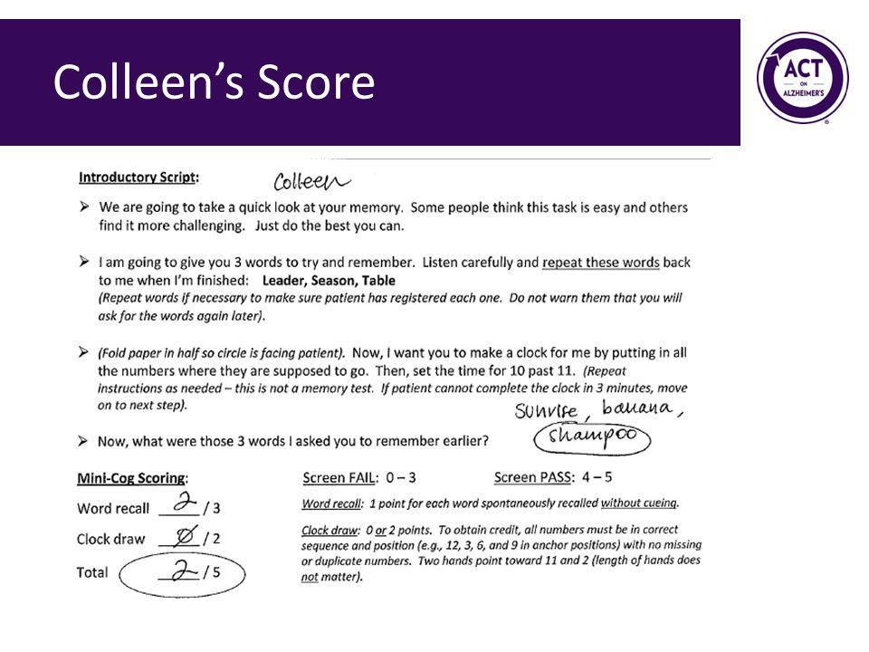 Colleen's Score Speaker Notes:
