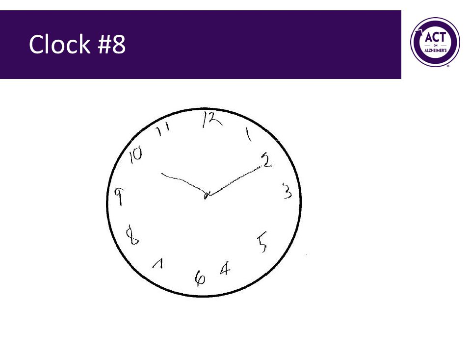 Clock #8 Speaker Notes: Ask the audience how they would score this clock. Score = 0 points.