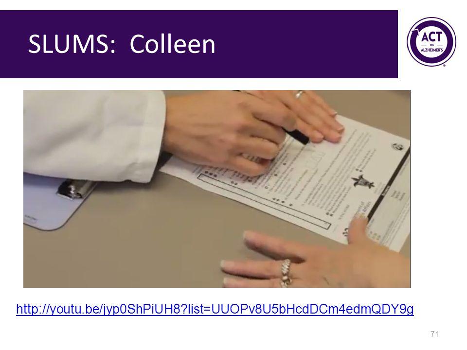 SLUMS: Colleen http://youtu.be/jyp0ShPiUH8 list=UUOPv8U5bHcdDCm4edmQDY9g. Speaker Notes: