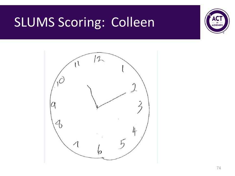 SLUMS Scoring: Colleen