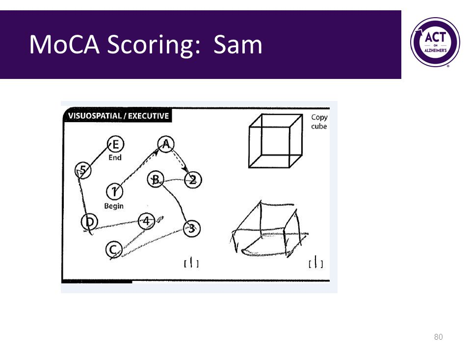 MoCA Scoring: Sam Speaker Notes: