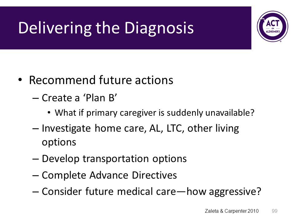 Delivering the Diagnosis