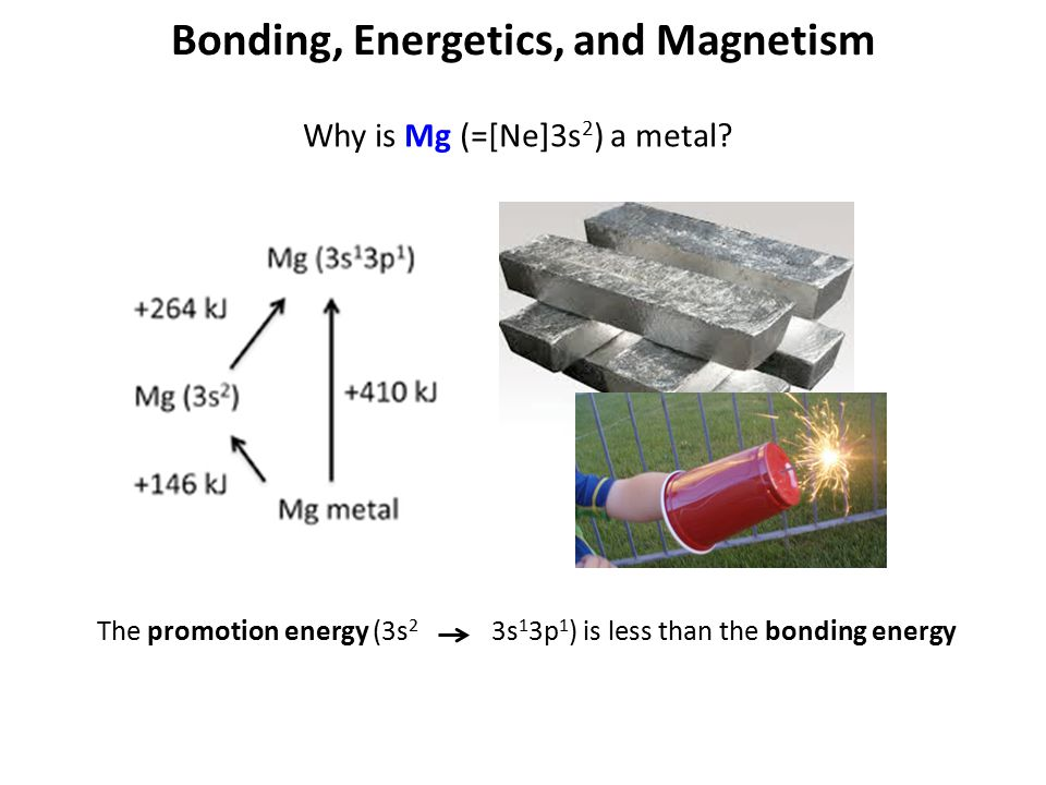 Bonding, Energetics, and Magnetism