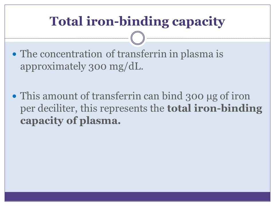 Total iron-binding capacity