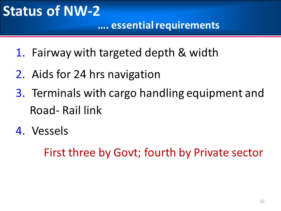 Status of NW-2 …. essential requirements