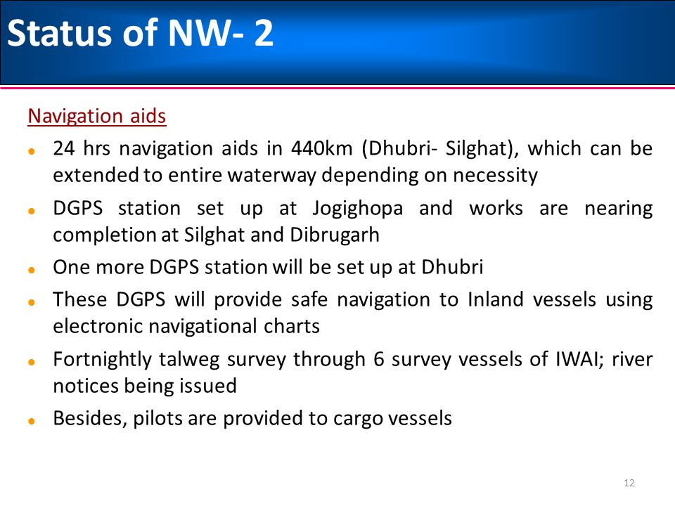 Status of NW- 2 Navigation aids