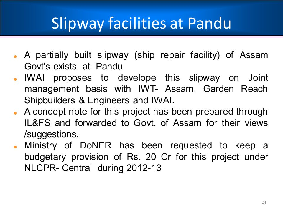 Slipway facilities at Pandu