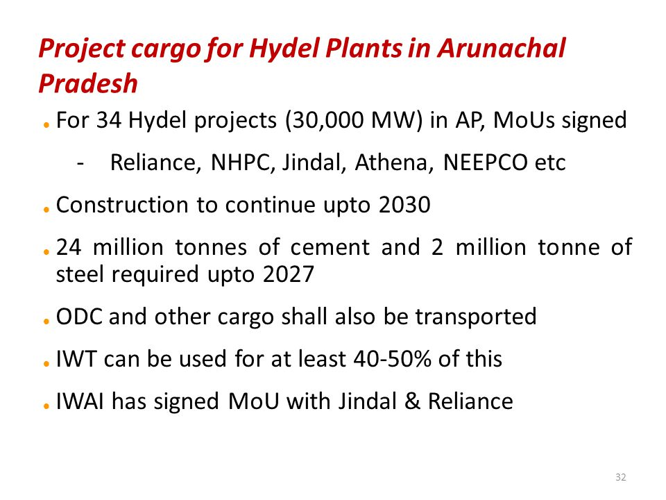 Project cargo for Hydel Plants in Arunachal Pradesh