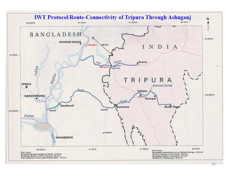 IWT Protocol Route-Connectivity of Tripura Through Ashuganj
