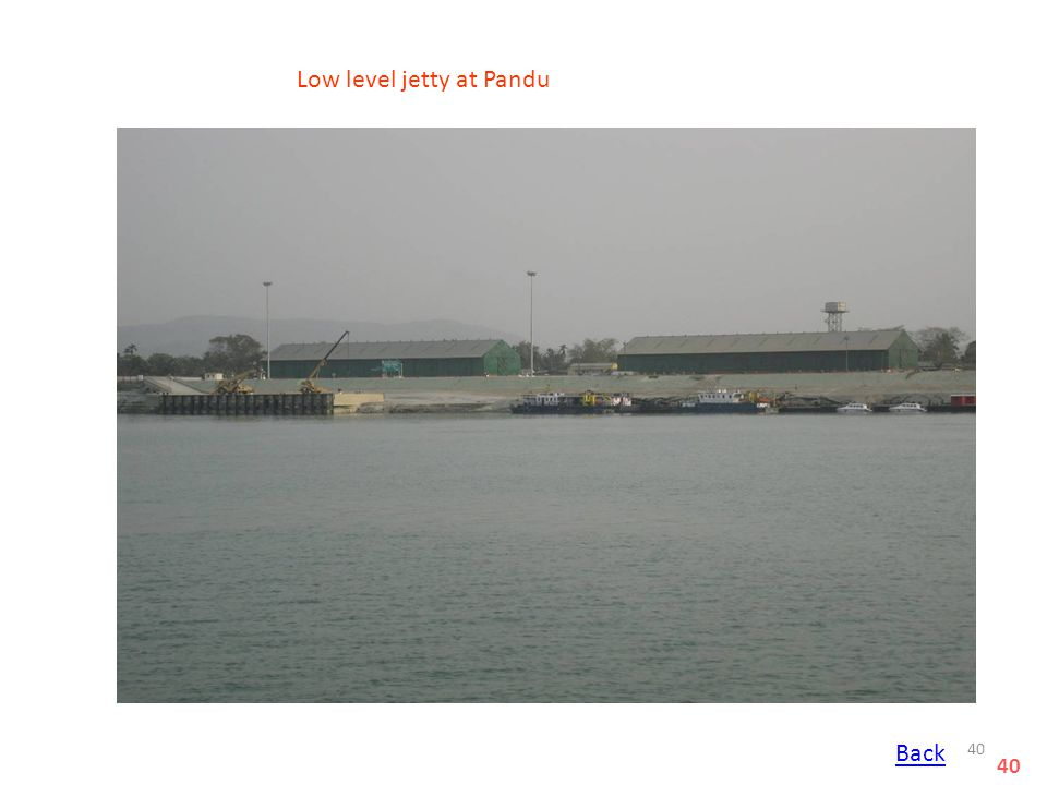 Low level jetty at Pandu