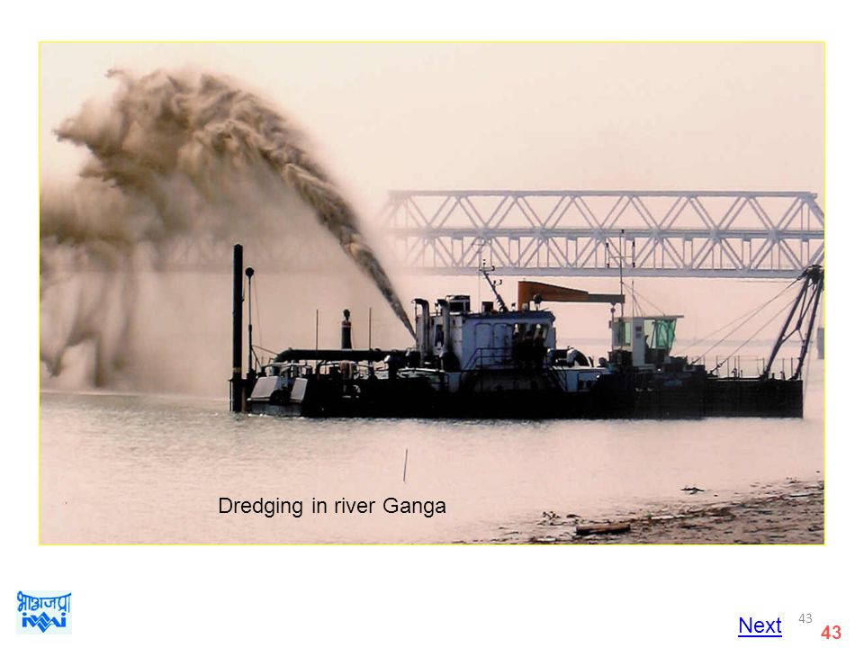 Dredging in river Ganga