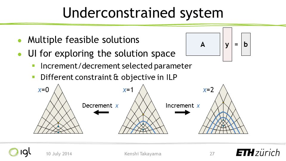 Underconstrained system