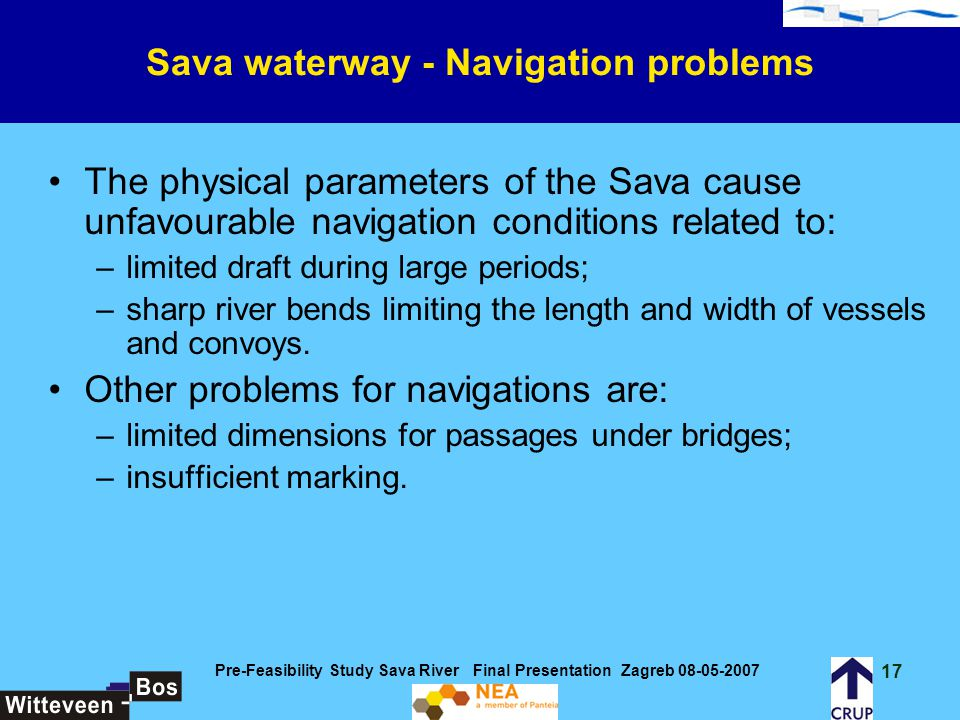 Sava waterway - Navigation problems
