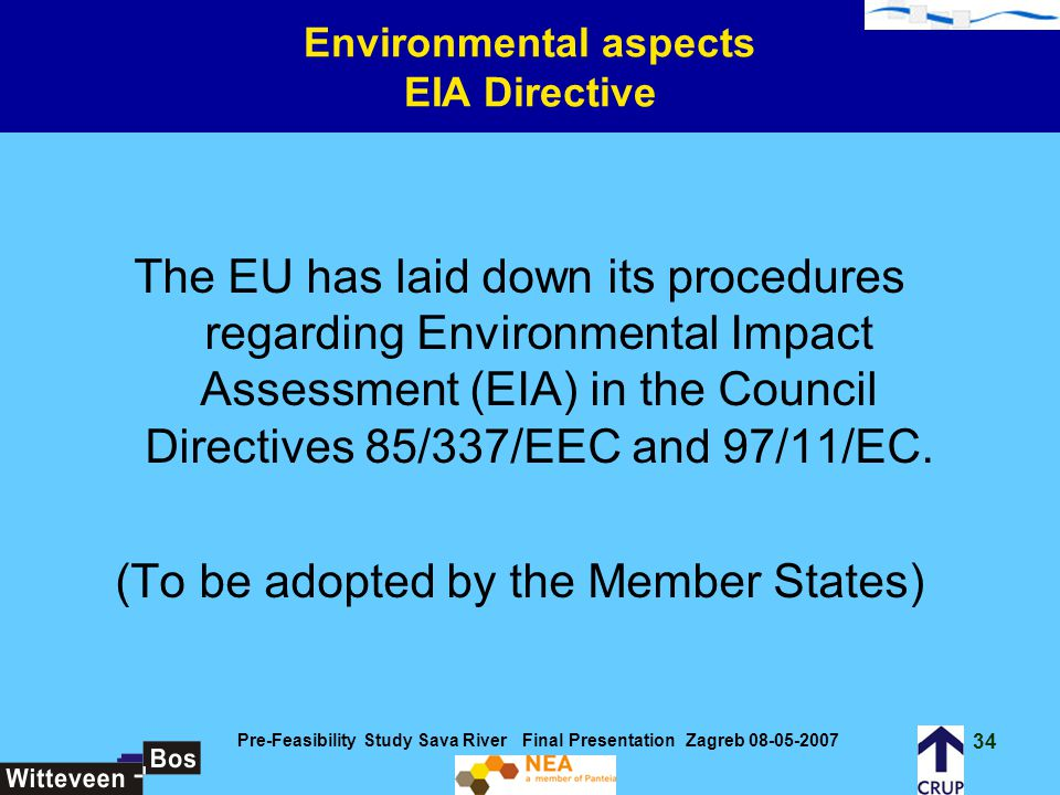 Environmental aspects EIA Directive