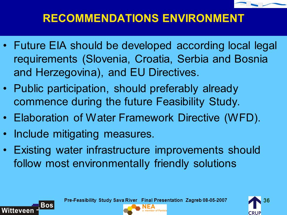 RECOMMENDATIONS ENVIRONMENT