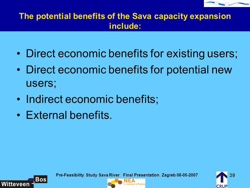 The potential benefits of the Sava capacity expansion include: