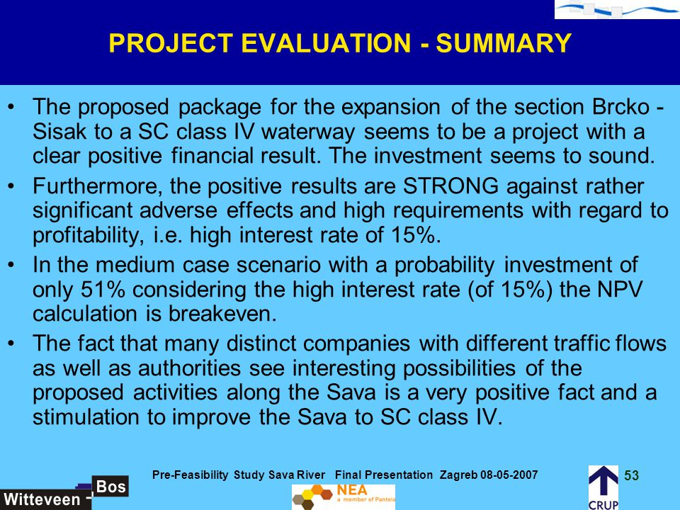 PROJECT EVALUATION - SUMMARY