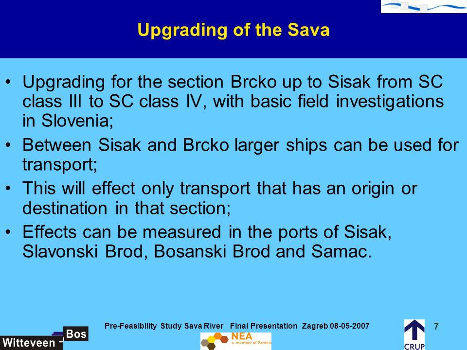 Pre-Feasibility Study Sava River Final Presentation Zagreb 08-05-2007