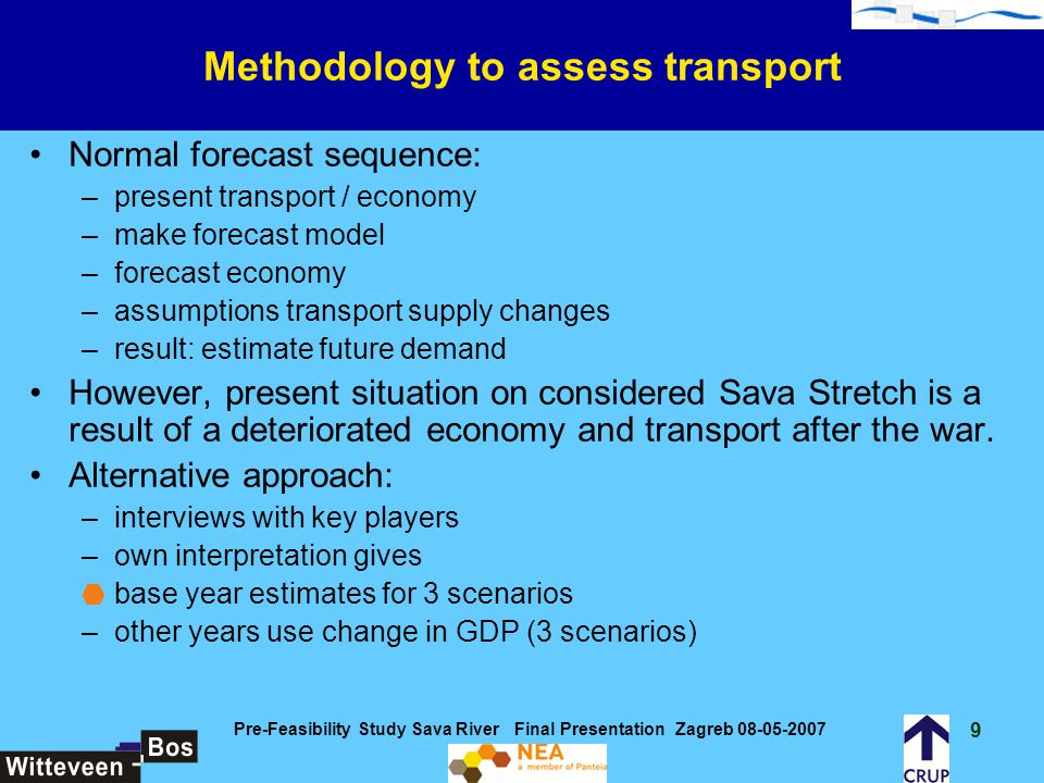 Methodology to assess transport