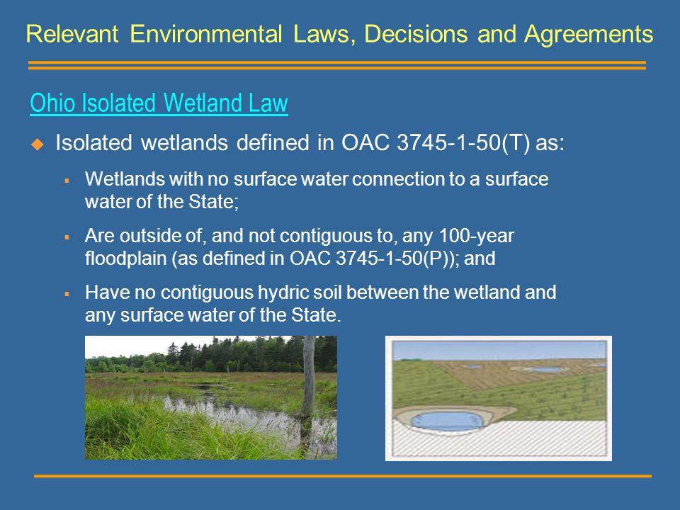 Ohio Isolated Wetland Law