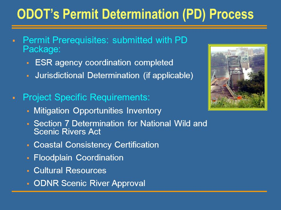 ODOT's Permit Determination (PD) Process
