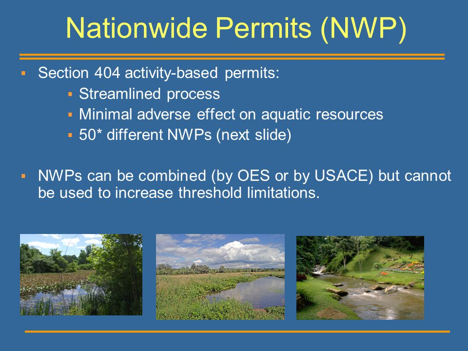 Nationwide Permits (NWP)