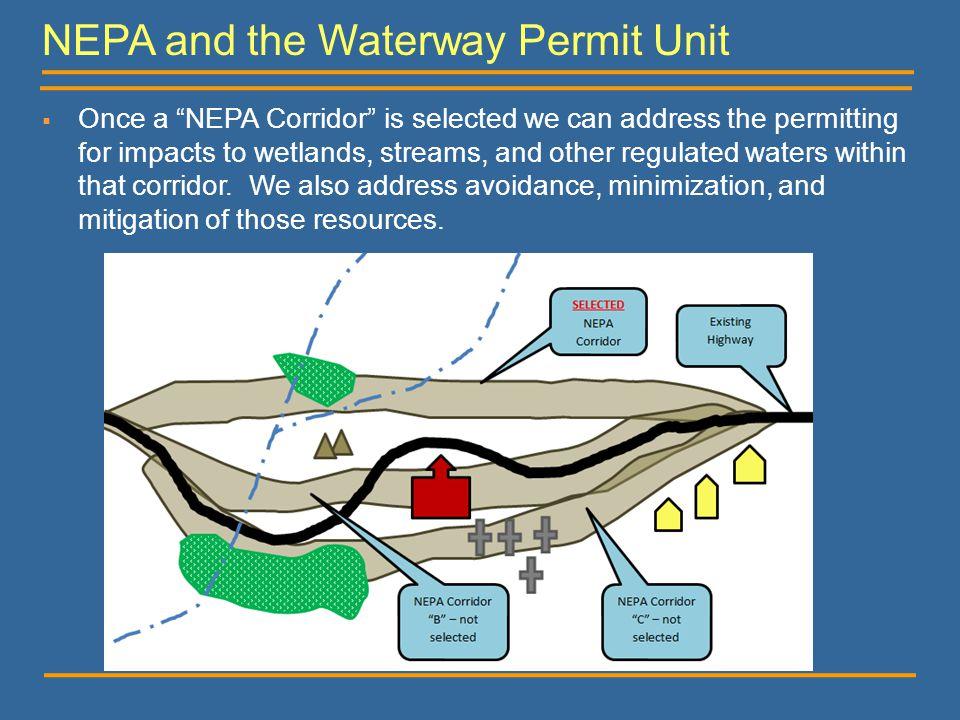 NEPA and the Waterway Permit Unit