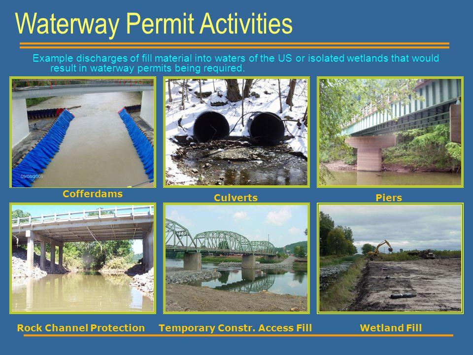 Waterway Permit Activities