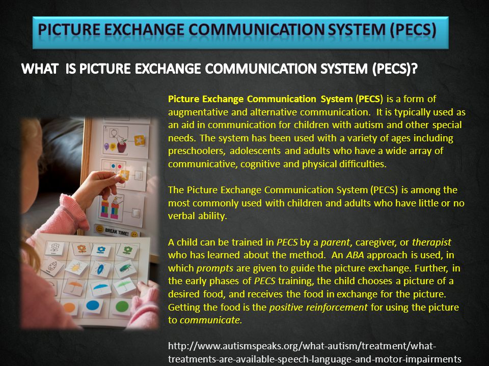 PICTURE EXCHANGE COMMUNICATION SYSTEM (PECS)