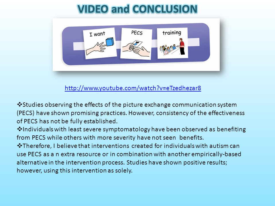 VIDEO and CONCLUSION http://www.youtube.com/watch v=eTzedhezar8