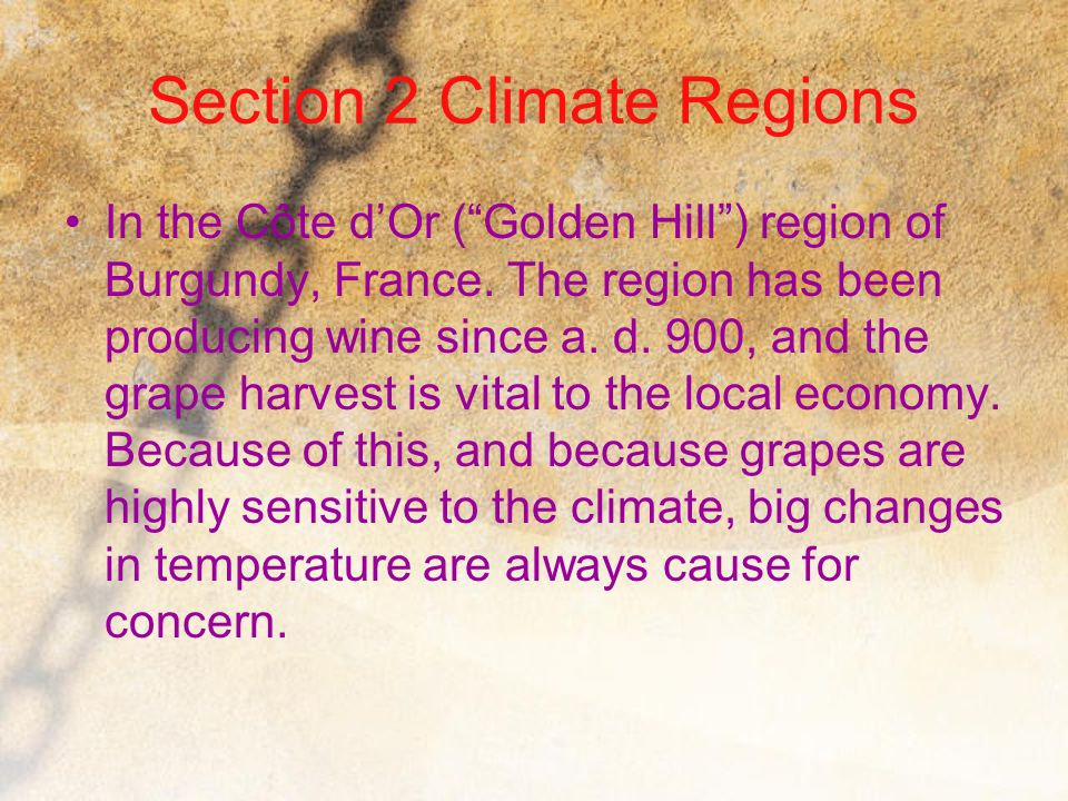 Section 2 Climate Regions