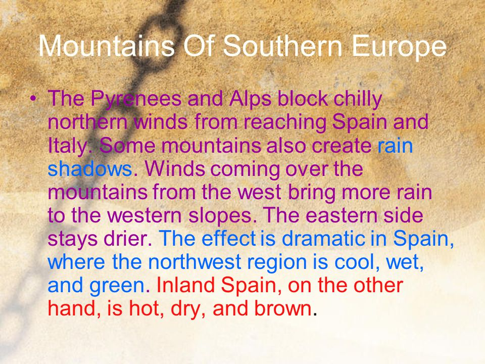 Mountains Of Southern Europe