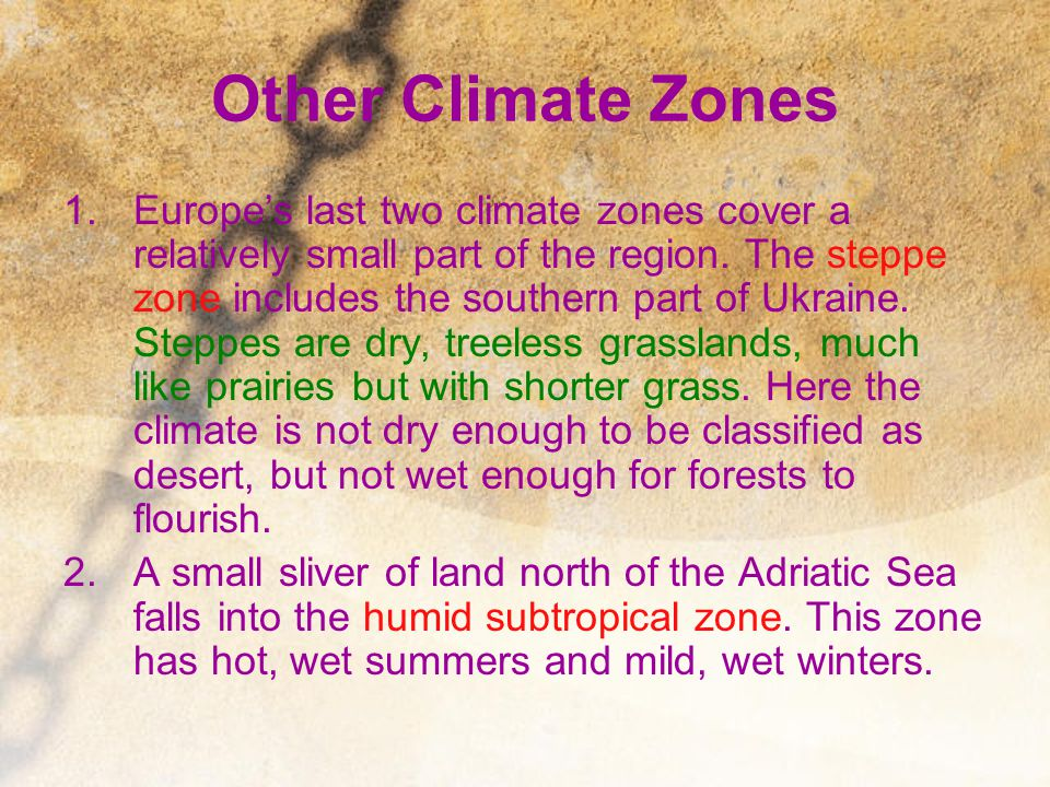 Other Climate Zones