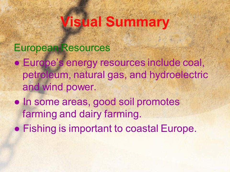 Visual Summary European Resources