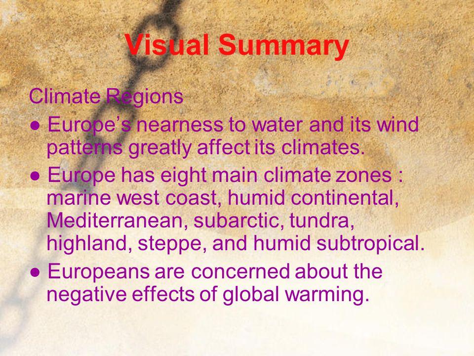 Visual Summary Climate Regions