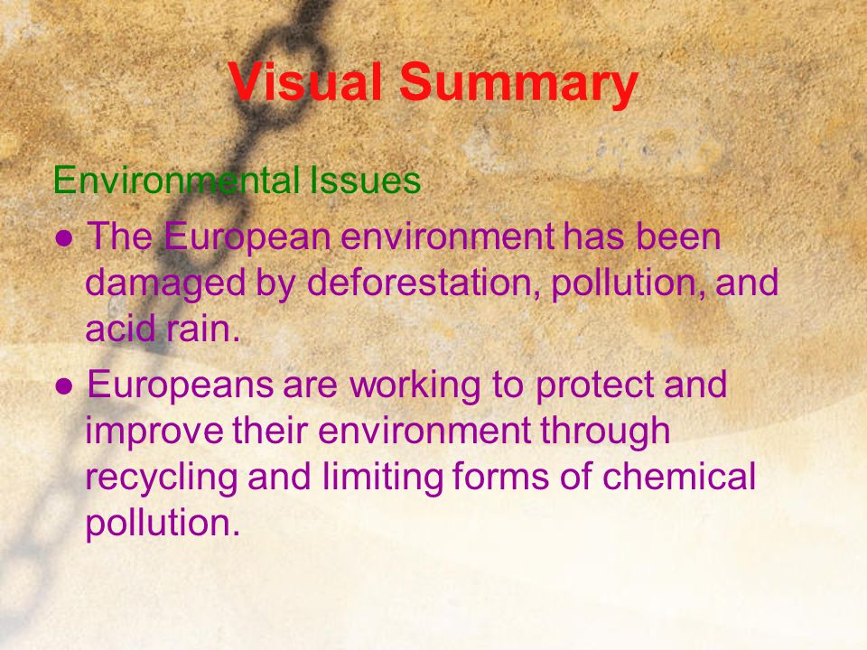 Visual Summary Environmental Issues
