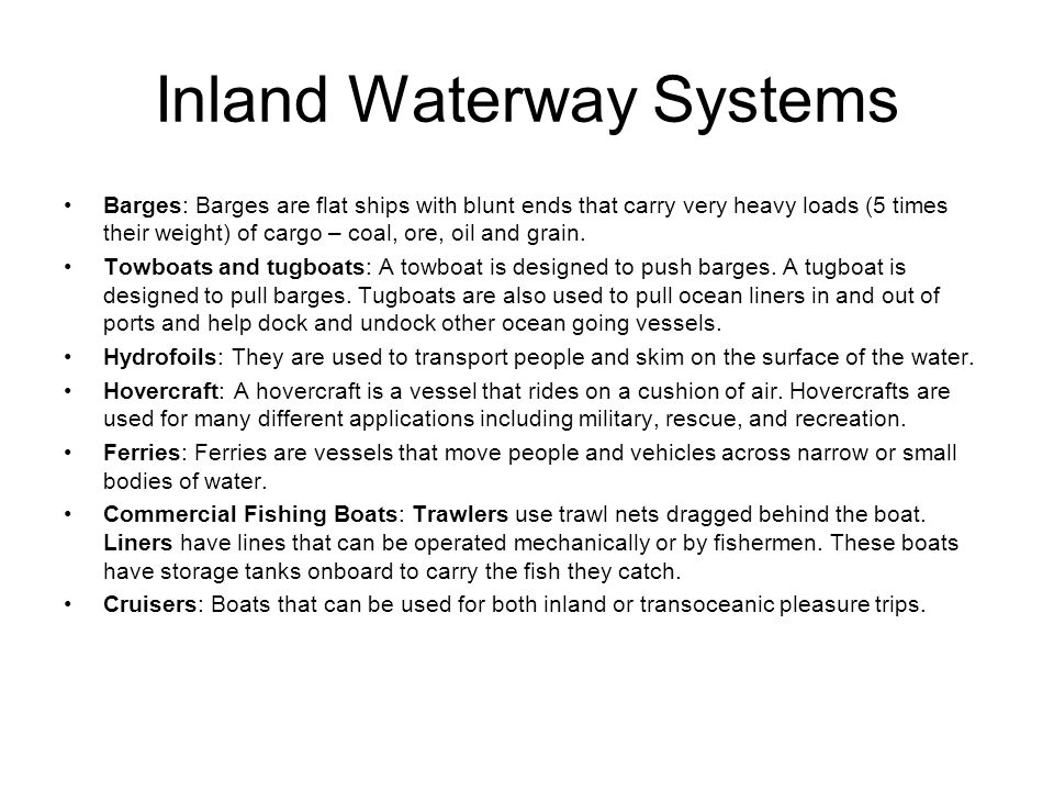 Inland Waterway Systems