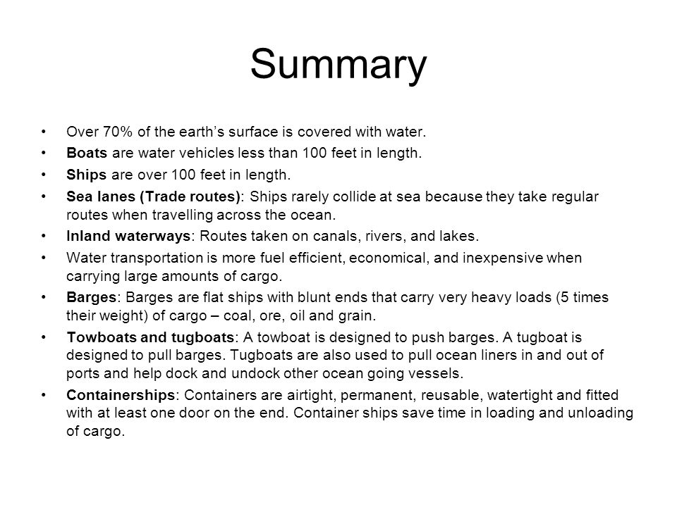 Summary Over 70% of the earth's surface is covered with water.