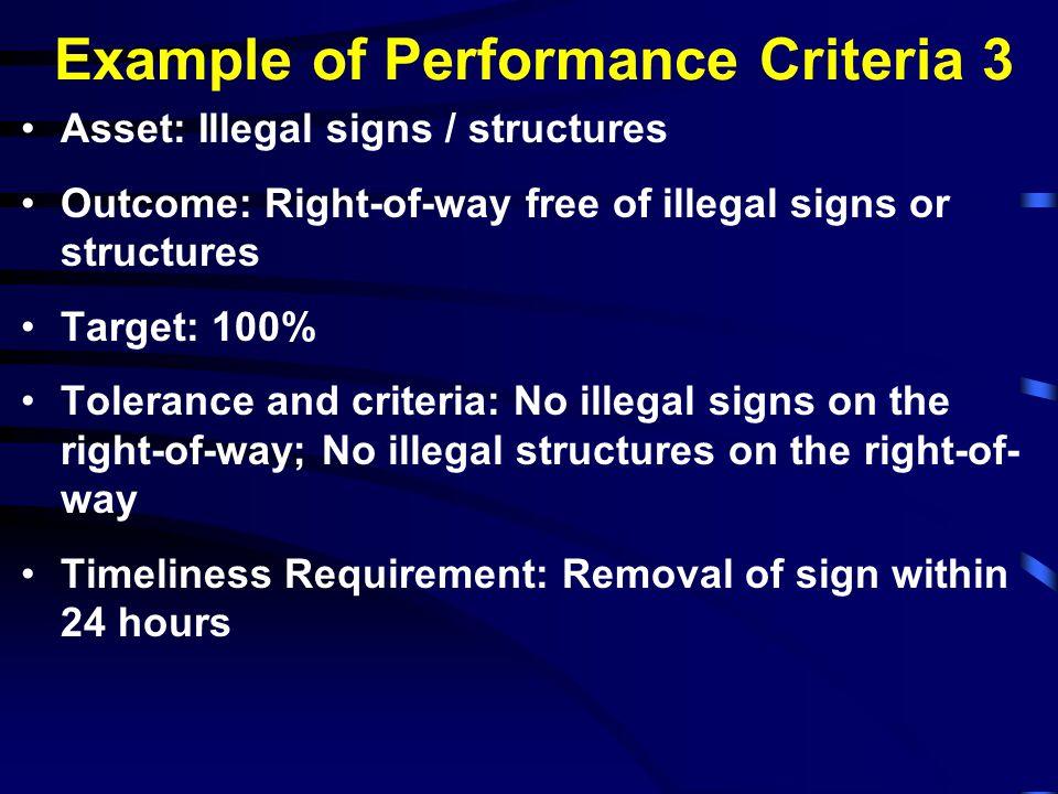 Example of Performance Criteria 3