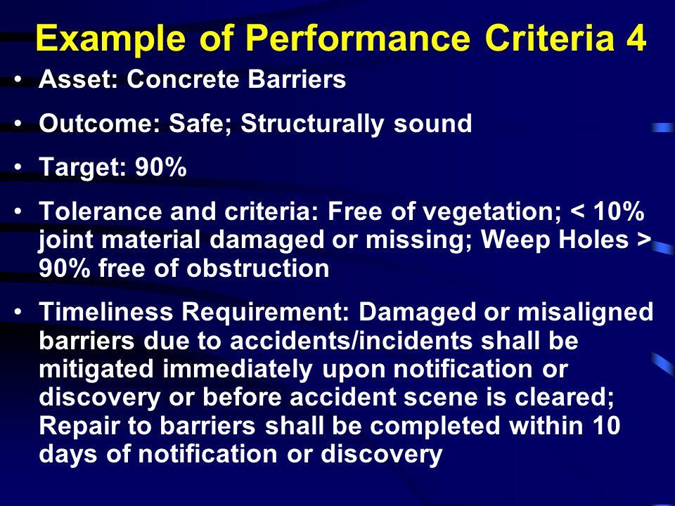 Example of Performance Criteria 4