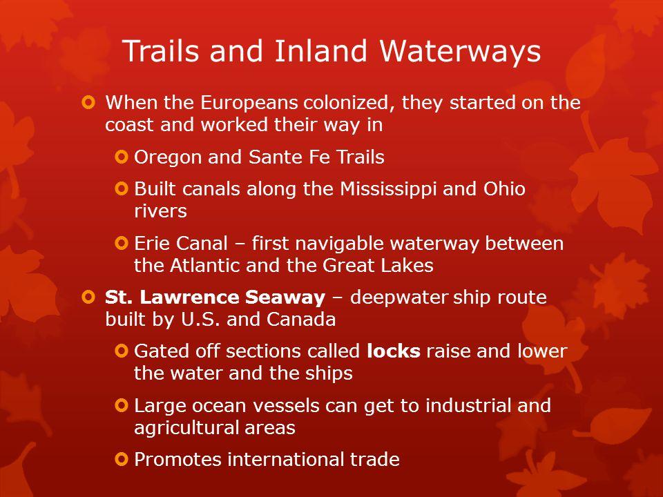 Trails and Inland Waterways