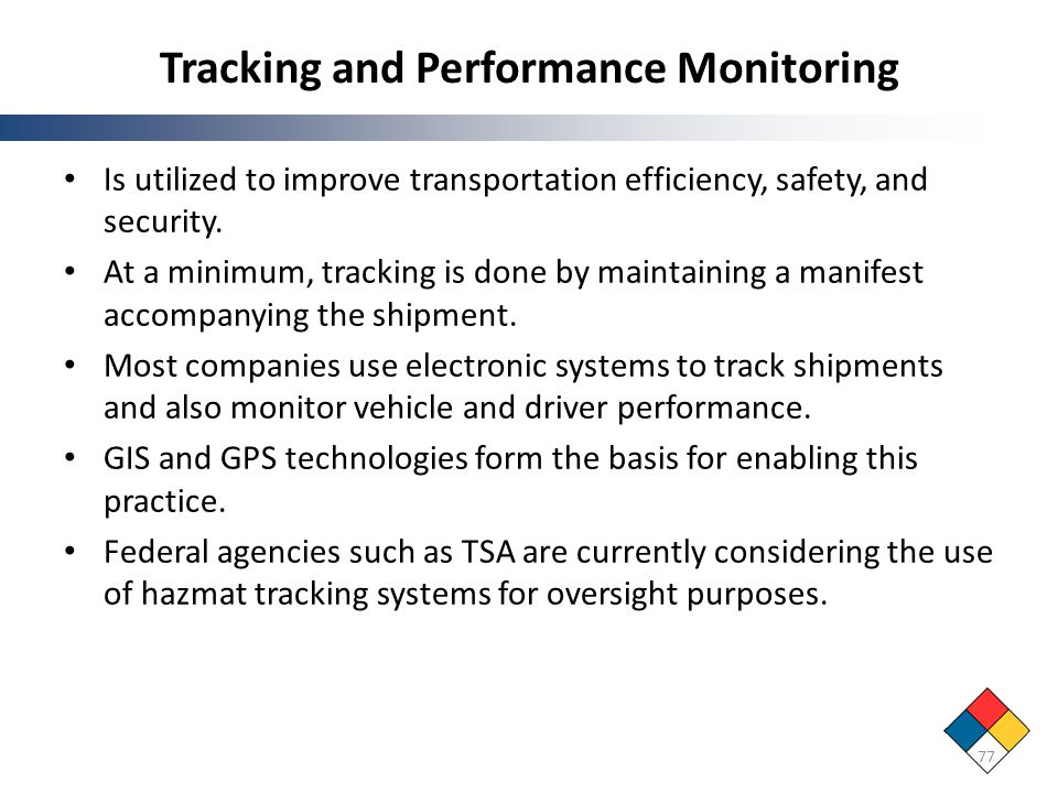 Tracking and Performance Monitoring