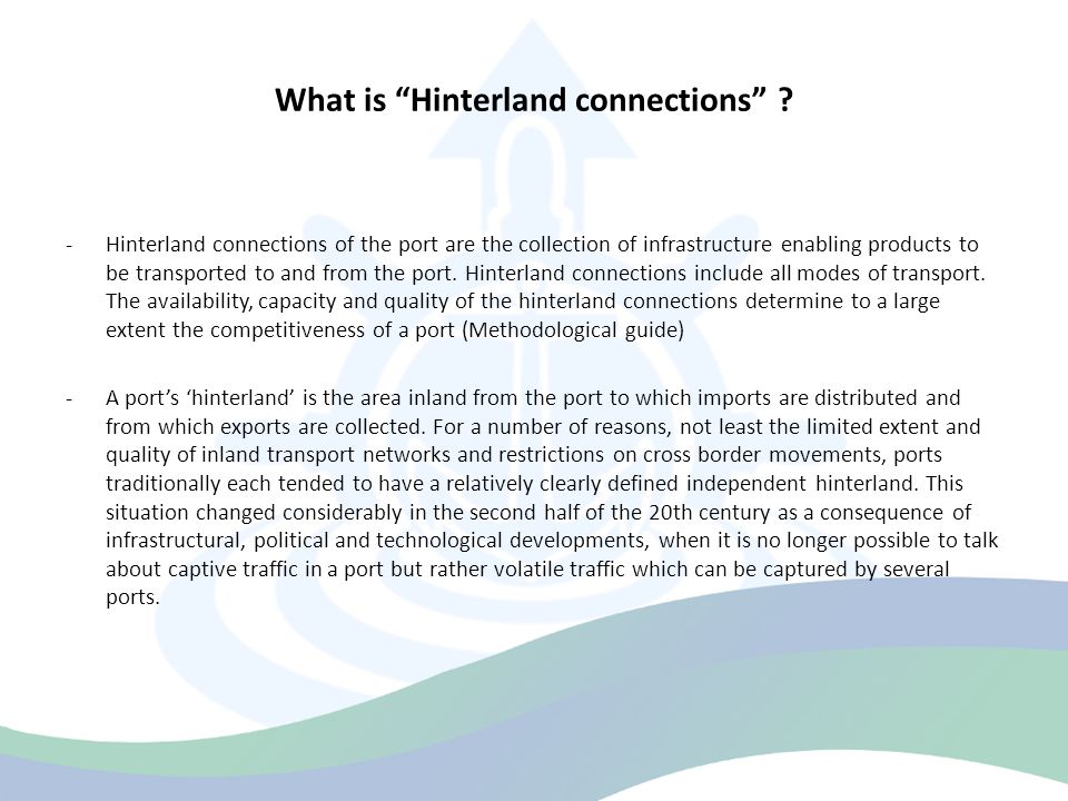 What is Hinterland connections