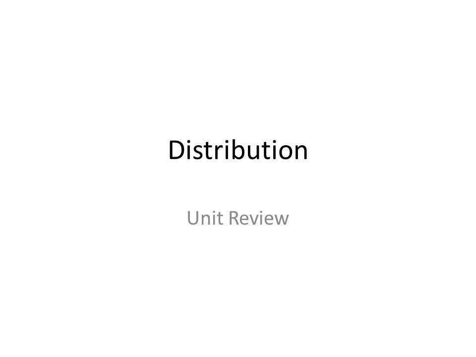 Distribution Unit Review