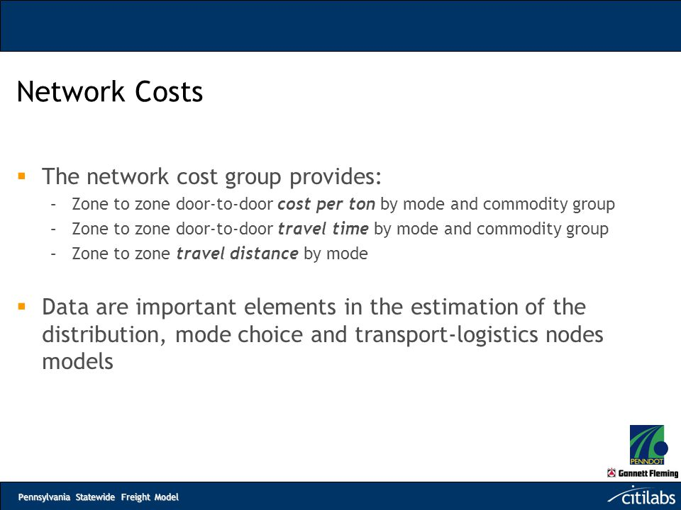 Network Costs The network cost group provides: